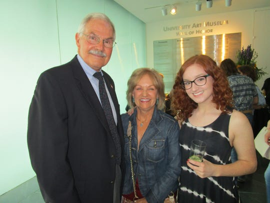 Mike Huber, Cindy Dore and Hannah Bourque