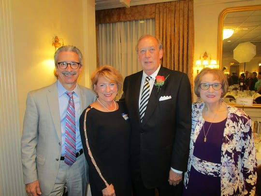 James Flachsenhaar with Elsie Meaux, 2018 Civic Cup recipient Randy Haynie and Sheila Pritchett at the awards gala.