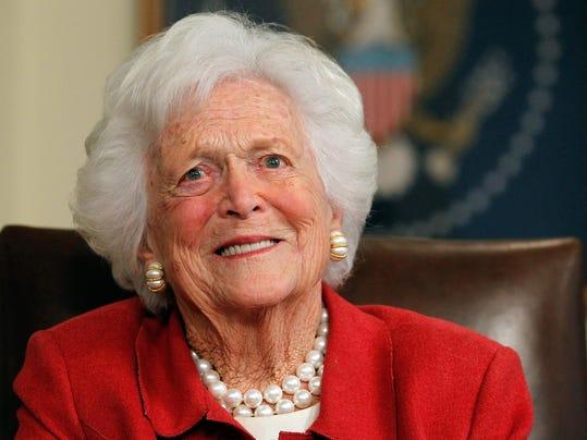 FILE - Former First Lady Barbara Bush Dies at 92 Mitt Romney Receives Endorsement From Former President George H.W. Bush