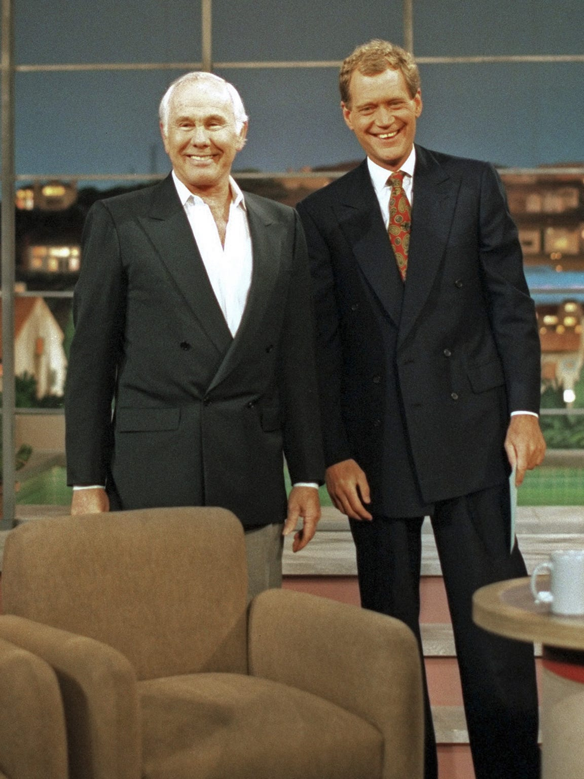 "Johnny Carson made a surprise appearance on ""Late Show"""