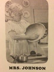 Mrs. Janie Johnson of Seminole is shown making bread