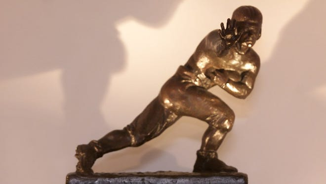 Paul Hornung's Heisman (pls cq) Trophy. Art for story on the former Notre Dame and Green Bay Packer great.
