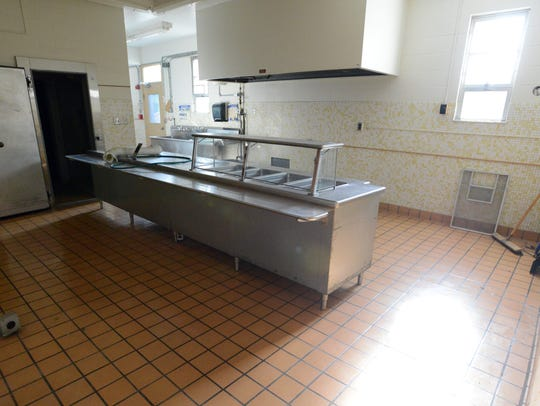 The existing kitchen at Cedar Heights Elementary School