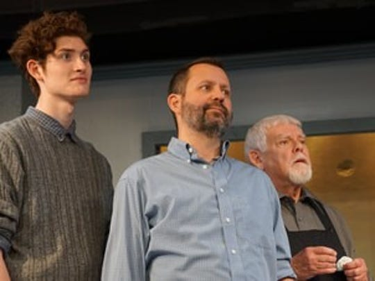 """Conner Paulson, David Zepatowski and Ron Seney in """"An Enemy of the People."""""""