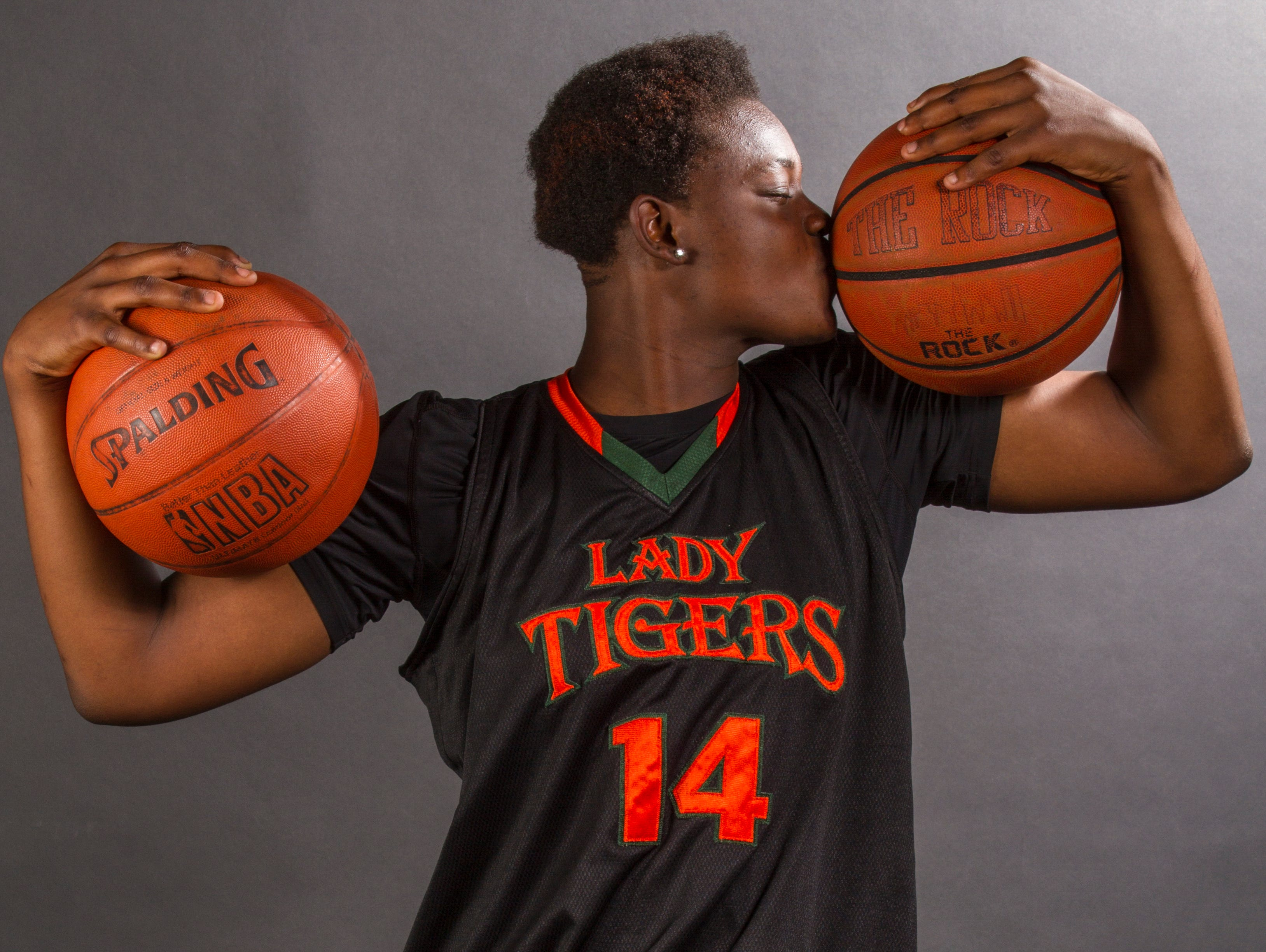 Ja'Miah Bland, 15, is a sophomore basketball player at Dunbar High School.