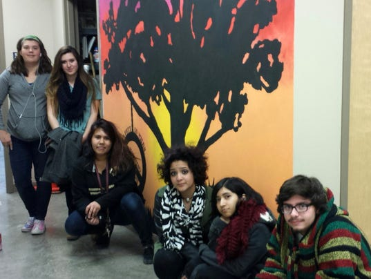 Students Donate Time To Paint Mural