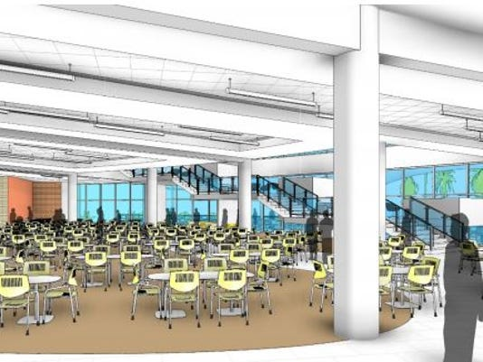 Student Union food court rendering