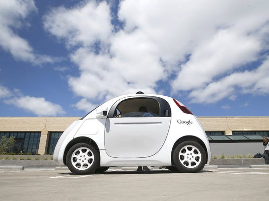 Google's self-driving car prototype seats two. It has
