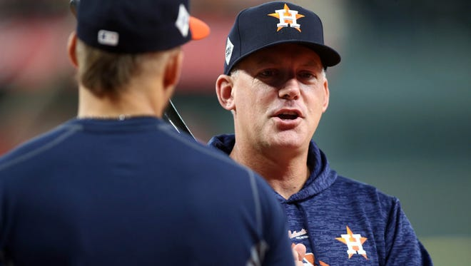 A.J. Hinch lead the Astros to the World Series this season.