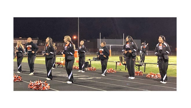 Sleepy Eye Indians Cheerleaders, pictured earlier this fall at the Homecoming game.
