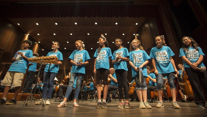 Leon County grade-schoolers were granted the opportunity to play with The Tallahassee Symphony Orchestra at the Ruby Diamond Concert Hall on Friday.