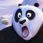 """Po, voiced by Jack Black, and his long-lost panda father Li, voiced by Bryan Cranston, appear in a scene from """"Kung Fu Panda 3."""""""