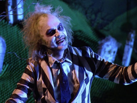 """Michael Keaton as the ghost with the most in """"Beetlejuice."""""""
