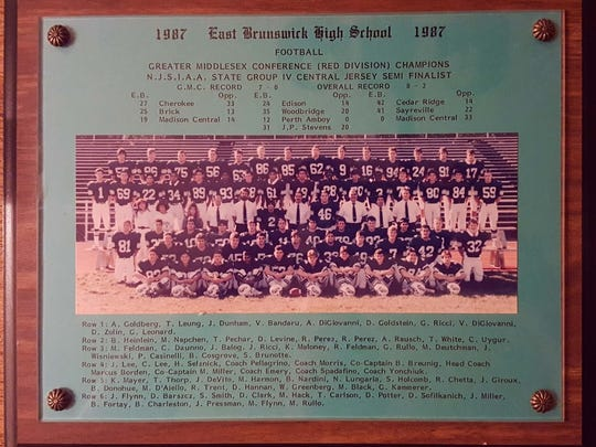 Anthony DiGiovanni started at nose guard on the 1987 East Brunswick football team, coached by Snapple Bowl founder and game director Marcus Borden.