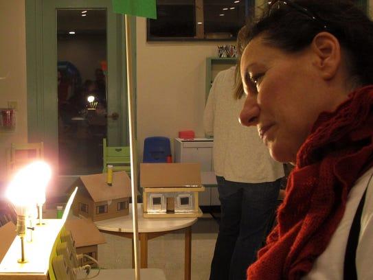 Bright enough for you? Lori Charash, a South Burlington
