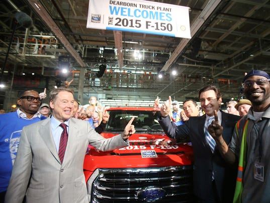Ford, UAW celebrates F-150 launch