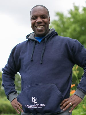 Jerome Watts is the founder of Kanga Klothing, pictured in Henrietta on Wednesday, June 29, 2016.