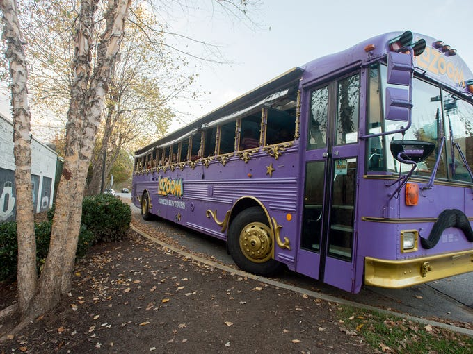 The LaZoom tour bus prepares to depart for the second