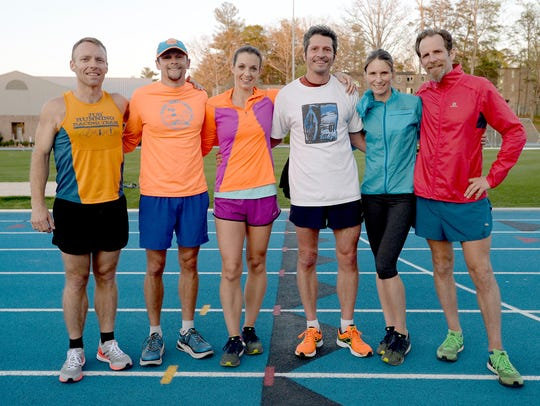Asheville runners from left: Beach Hensley, Andy Brouwer,
