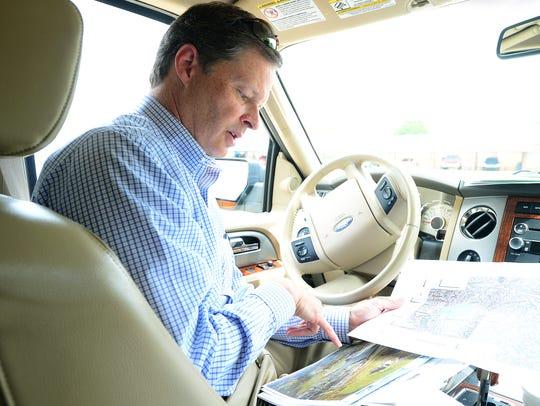 Real estate developer Martin Lewis points to areas