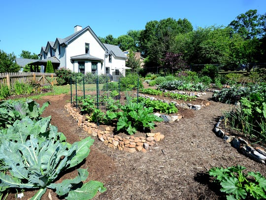 Charlotte Bell's garden in East Asheville is the only one on the annual GreenWorks Garden Tour that features a vegetable garden.