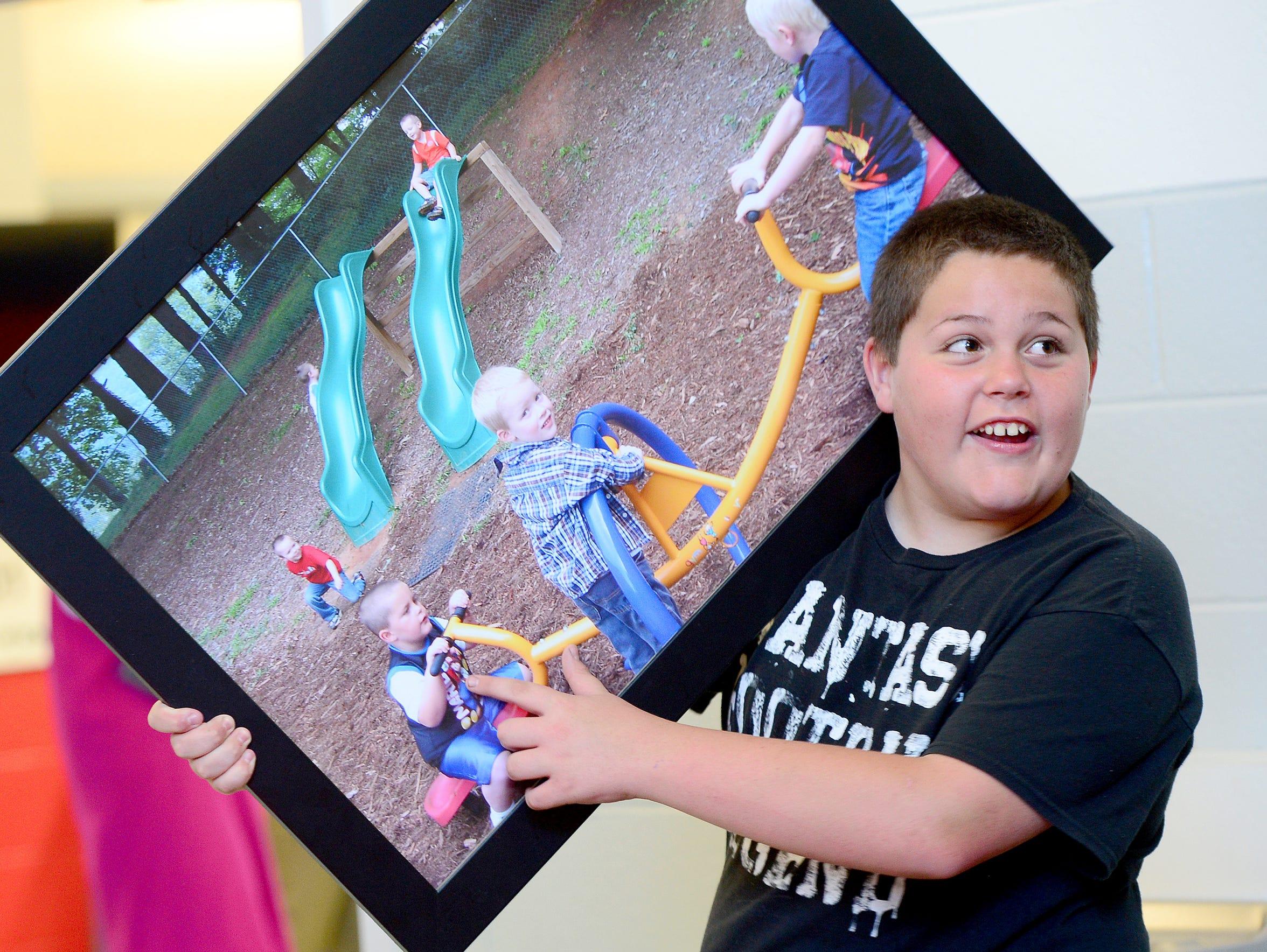 Central Elementary School fifth-grader Jacob Rhinehart,