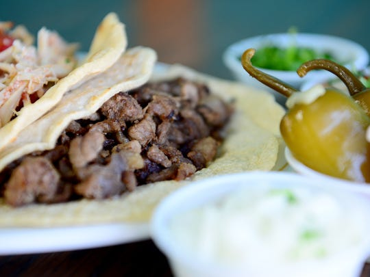 The lengua taco at Taqueria Munoz in West Asheville.
