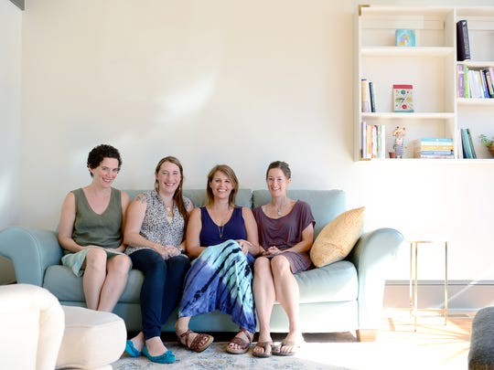 The crew of The Mothership, a new, collaborative space for expecting and postpartum mothers, from left are: Molly Rouse, Rachel Ansari, Carrie Hike, and Michele Gee.