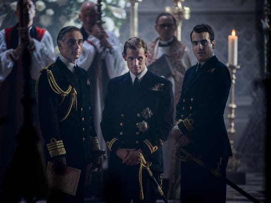 Matt Smith, center, is Prince Philip in 'The Crown.'