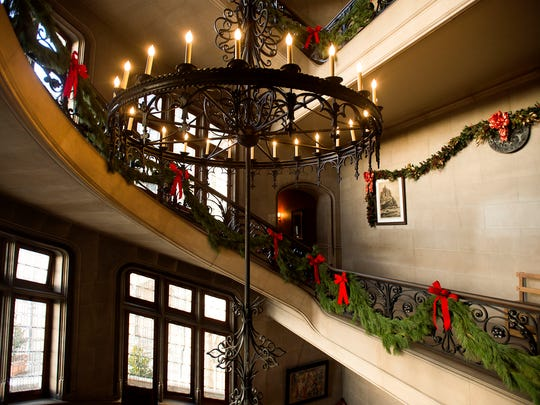 The 250 room Biltmore House once again is decorated for the holiday season, with over 70 Christmas trees and thousands of lights.