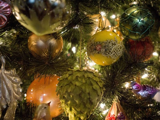 Over 70 Christmas trees are decorated inside the Biltmore,