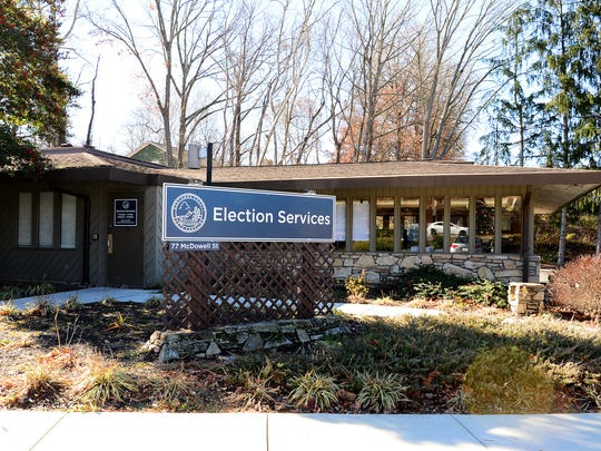 The Buncombe County Elections building is located on McDowell Street in Asheville.