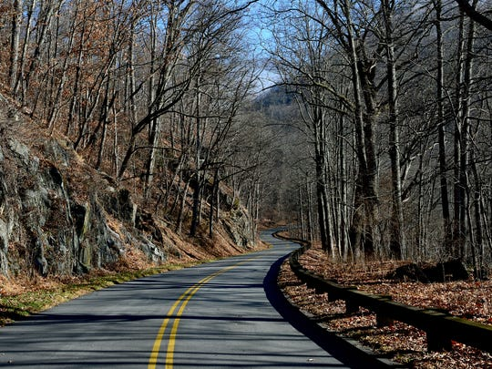 The Blue Ridge Parkway north of Milepost 376 was closed