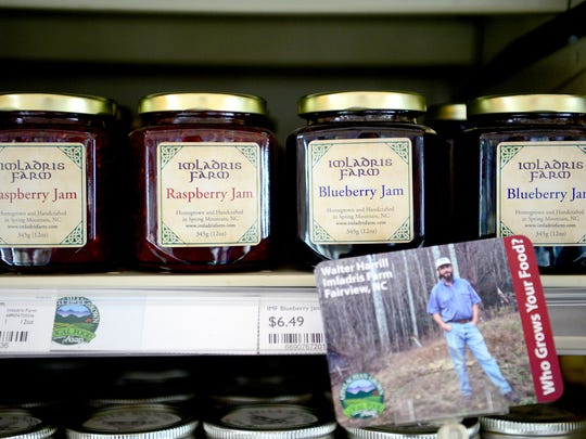 Jam made by Imlardis Farm sits on the shelf at the
