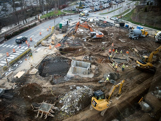 Harrah's Cherokee Casino construction continues, adding 600-800 more hotel rooms in another tower, in addition to 100,000 square feet of convention space.