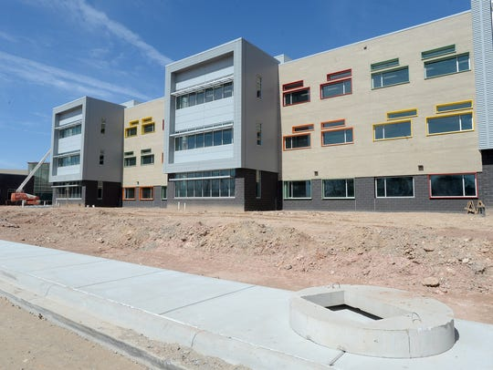 The new Asheville Middle School opened last year. The