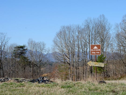 The site of the former landfill owned by the county