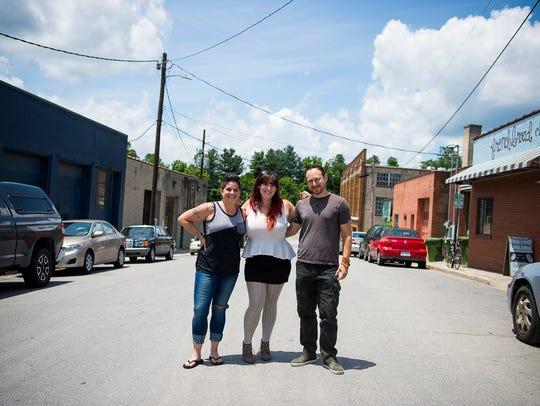 Autumn Trama, left, Xpand Festival beer coordinator,