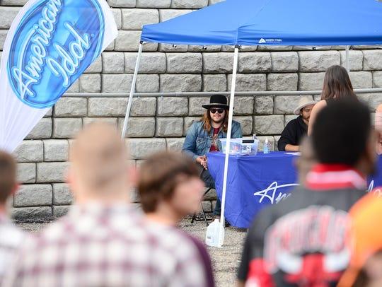 Former American Idol winner Caleb Johnson sits in as