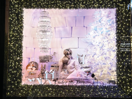 Leigh Ann Tischler designs the creative window displays