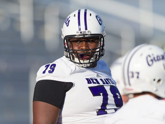 Dawand Jones played offensive line for the Class 6A state champs this season.