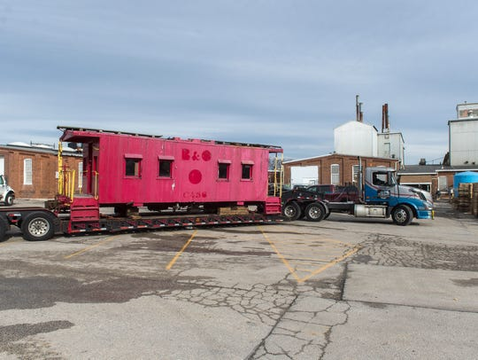 The caboose was originally from the Baltimore and Ohio