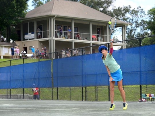 """With its 12 groomed clay courts, the city of Asheville's Aston Park Tennis Center is often described as a """"gem"""" of the local tennis scene."""