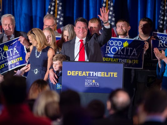 Indiana Primary Election 2018 watch party for Indiana Senate candidate Todd Rokita