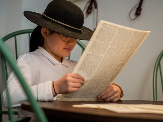 A young visitor to the Museum of the American Revolution