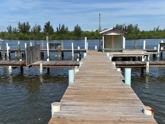The historic Jones Pier, seen on Wednesday, June 27, 2018, across from the main house at 7770 Jungle Trail in Indian River County. The pier, built by Richard Milton Jones in 1910, was used in the early 1900s for citrus growers to transport fruit between the island and the mainland, and is part of the history of the Jungle Trail.