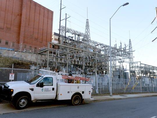 The Duke Energy power substation behind the U.S. Cellular