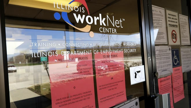 The Illinois Department of Employment Security said Thursday that it processed 39,015 initial unemployment claims last week, which was shortened by the Independence Day holiday weekend. That was down from 43,934 initial claims filed the previous week, a decline of 11 percent.