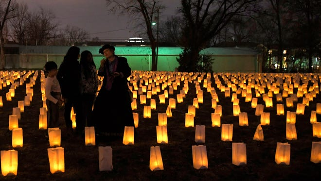 Each year on Nov. 30, The Battle of Franklin Trust hosts the annual illumination when 10,000 luminaries are laid out to represent the 10,000 casualties from the Battle of Franklin in 1864.