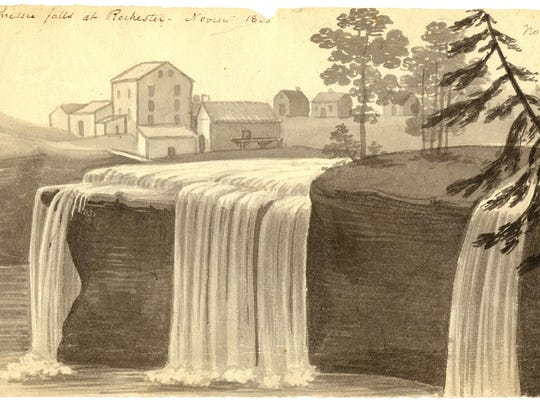 In this 1825 drawing, a sketch of a section of the Erie Canal by Episcopalian minister John Henry Hopkins, is shown.